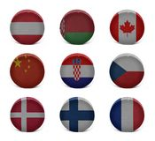 Collage d'hockey du monde (d'A à F) Image libre de droits