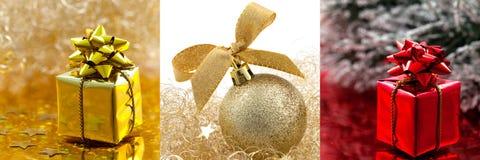 Collage d'illustration de Noël Photo stock