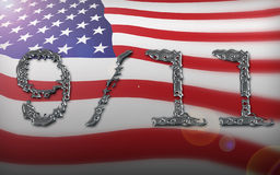 Collage d'indicateur américain Images libres de droits