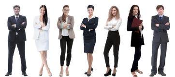 Collage d'un grand choix d'hommes d'affaires se tenant dans une rangée photo libre de droits