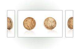 Collage d'une pièce de monnaie de cent de l'euro 10 Photos stock