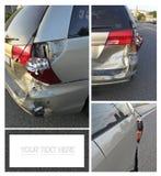 Collage dañado del coche imagen de archivo