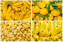Collage da frutta e dalle verdure fresche Immagini Stock