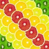 Collage da un insieme di frutta Fotografie Stock Libere da Diritti