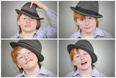 Collage dai capelli rossi divertente del tipo Fotografie Stock Libere da Diritti