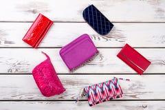 Collage dalle borse e dalle borse femminili Fotografia Stock Libera da Diritti