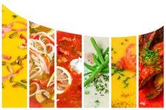 Collage dalle foto del purè delle minestre Fotografia Stock Libera da Diritti