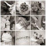 Collage dalle foto di cerimonia nuziale. Nove in uno Immagine Stock Libera da Diritti