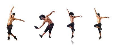 The collage of dancers isolated on white background Royalty Free Stock Photo