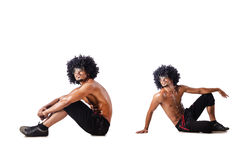 The collage of dancers isolated on white background Stock Image