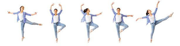 Dancing girl collage Stock Photography