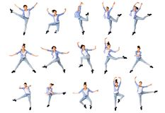 Dancing girl collage Stock Images