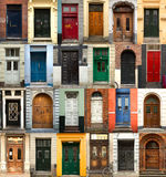 Collage of danish doors Stock Image