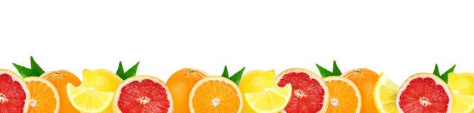 Collage de agrios mezclados Frutas frescas del color fotografía de archivo libre de regalías