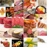Collage de alto valor proteico de la colección de la comida Imagen de archivo libre de regalías