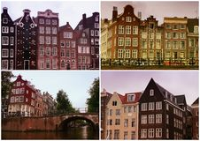 Collage de Amsterdam Foto de archivo libre de regalías