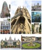 Collage de Barcelone - Espagne photographie stock