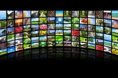Collage de beaucoup de photos images libres de droits