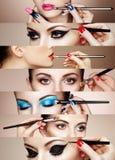 Collage de beauté Visages des femmes Images libres de droits