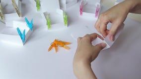 Collage de boîte de papier banque de vidéos