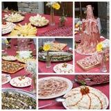 Collage de buffet photos stock