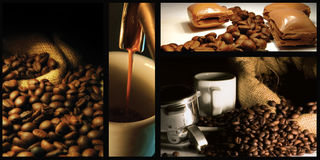 Collage de café Image stock