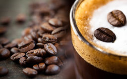 Collage de café Photos libres de droits