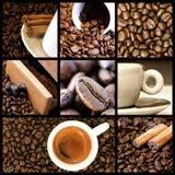 Collage de café Photo stock