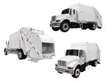 Collage de camion à benne basculante d'isolement Images stock