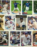 Collage de carte de collection de base-ball de Chicago Cubs images stock