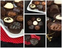 Collage de chocolats Image stock