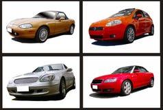 Collage de coches Imágenes de archivo libres de regalías