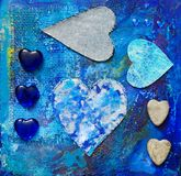 Collage de coeur Photo stock