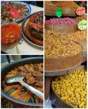 Collage de comidas de Oriente Medio en Jordania Fotos de archivo