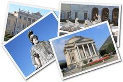 Collage de Como, Italia Imagen de archivo libre de regalías