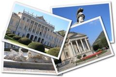 Collage de Como, Italie Images libres de droits