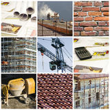 Collage de construction Images stock