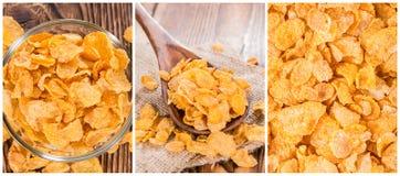 Collage de cornflakes Image stock