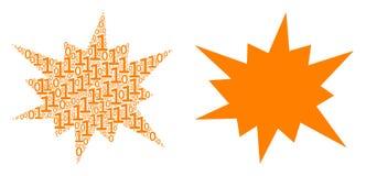 Collage de coup des éléments binaires Illustration de Vecteur