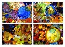 Collage de cristal soplado del arsenal Imágenes de archivo libres de regalías