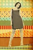 Collage de cru avec le jeune femme beaty Images stock
