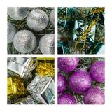 Collage de décoration de Noël Image libre de droits