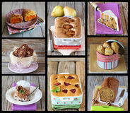 Collage de dessert Images libres de droits