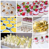 Collage de dessert Photographie stock