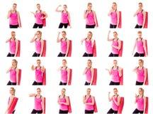 Collage de différentes expressions du visage Photographie stock libre de droits