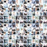 Collage de différentes images d'affaires images libres de droits