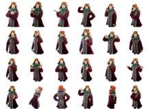 Collage de diversas expresiones faciales Imagen de archivo libre de regalías