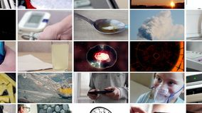 Collage de diversos vídeos Cantidad de UltraHD almacen de video