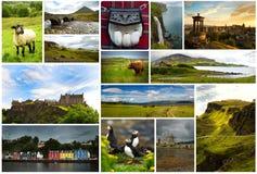 Collage de Escocia hermosa en Reino Unido foto de archivo libre de regalías