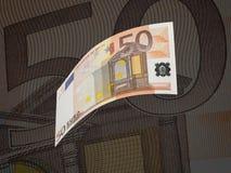 Collage de facture de l'euro cinquante avec le ton chaud illustration libre de droits